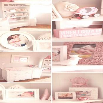 25 Soft and Subtle Baby Girl Nursery Ideas Pink, Gray, and White Nursery. Emily's will be kha... 25