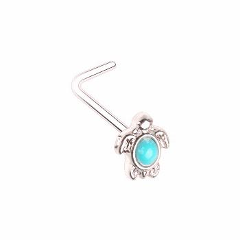 Turquoise Turquoise Sea Turtle L-Shape Nose Ring