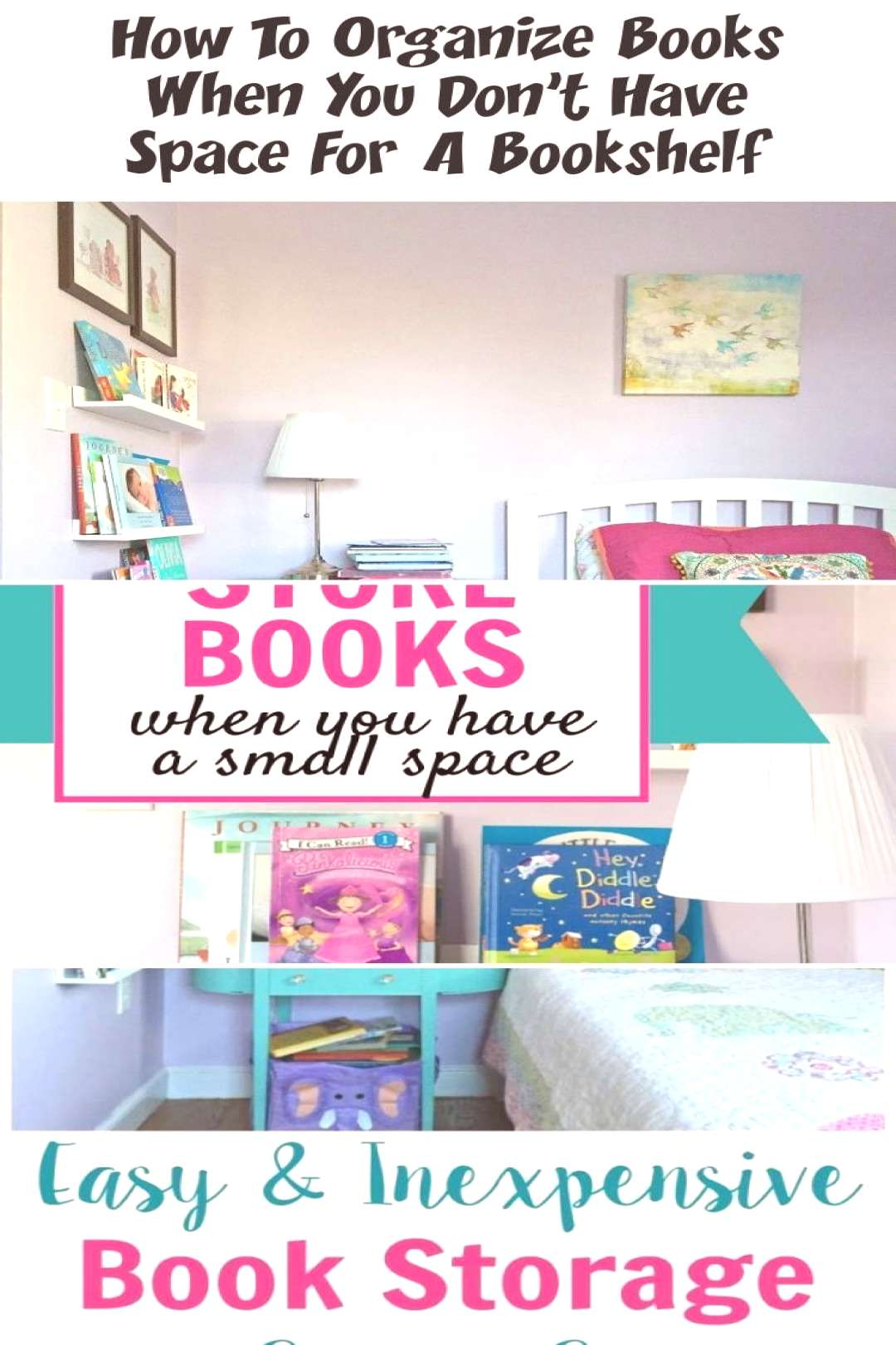 These small-space book storage ideas are great for your tiny bedroom, nurseries and kids r ..... -